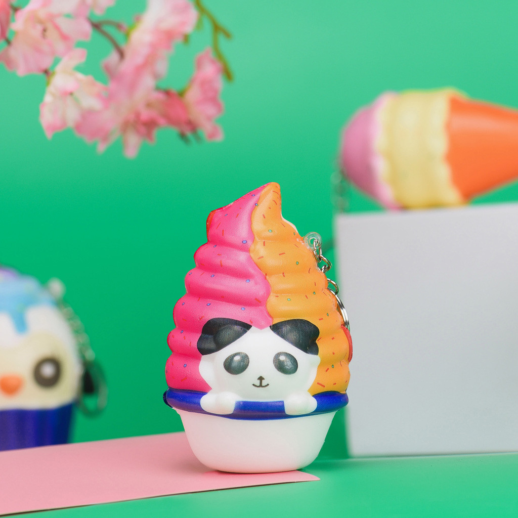 Kawaii Adora Panda Ice Cream Scented Cream Slow Keychain Stress Reliever Toy Super Slow Rising FH5