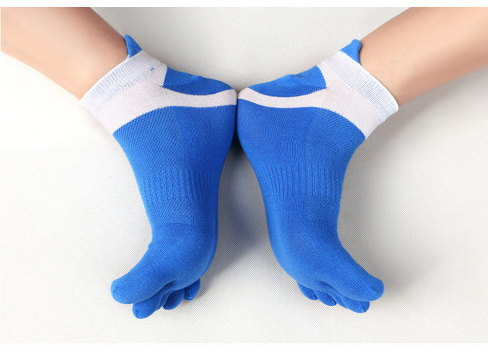 38-43 Men Outdoor Sports Bicycle Socks 1Pair Breathable 5 Finger Toe Slipper Sock Coolmax Pro Cycling Running Socks BC0337 (13)