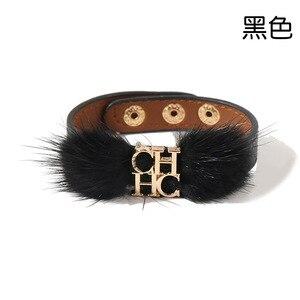 Image 4 - Глянцевый кожаный браслет для женщин из титановой стали с золотыми буквами и двойной петлей