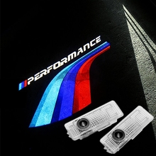 2X Performance Wings LED Welcome Lights For BMW F30 320i 330i F10 520i 525i ///M Ghost Shadow Car Door 3D Laser Projector Lamp