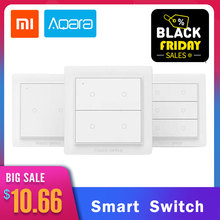 2019 New International Version Xiaomi Aqara Opple Wireless Smart Switch ZigBee 3.0 Work With Mijia App Apple HomeKit Wall Switch