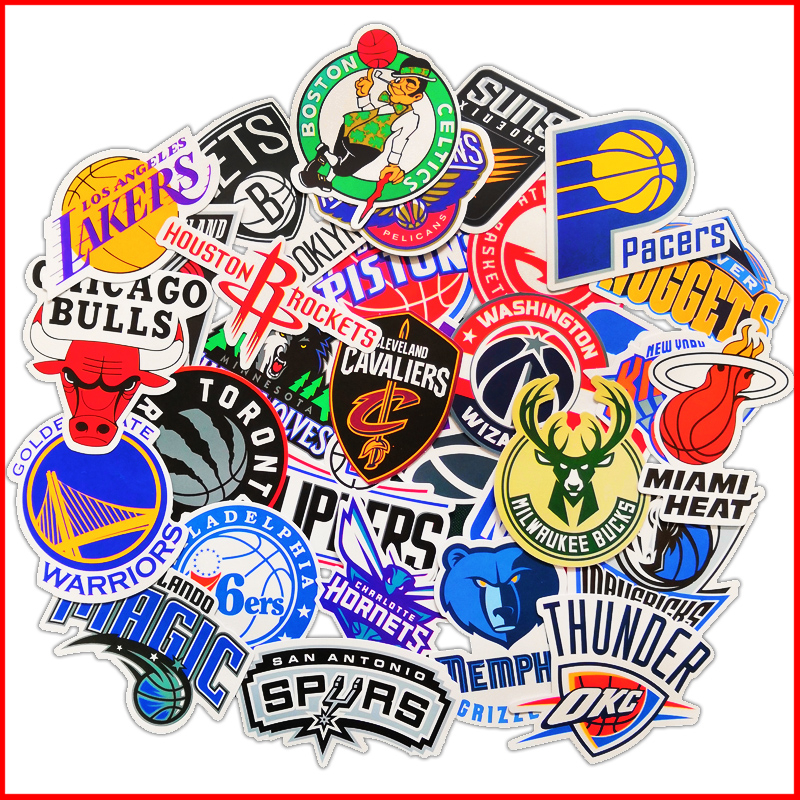 NBA Basketball team logo mark album personalized scrapbook Stickers scrapbooking material personalized sticker happy planner image