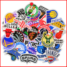 NBA Basketball team logo mark album personalized scrapbook Stickers scrapbooking material personalized sticker happy planner cheap Paper 3-5 cm