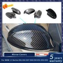 Для BMW 1 3 серии E81 E82 E87 E88 E90 E91 E92 E93 зеркало заднего вида из углеродного волокна крышки автомобильные аксессуары