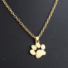 Fashion Cute Pets Dogs Footprints Paw Chain Pendant Necklace Necklaces Pendants Jewelry for Women long necklace