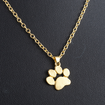 Fashion Cute Pets Dogs Footprints Paw Chain Pendant Necklace Necklaces & Pendants Jewelry for Women long necklace
