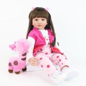 60 centímetros Silicone Renascer Criança Princesa Boneca de Brinquedo Para A Menina 24