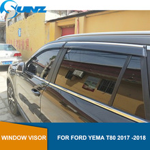 Car Window Deflector Visor For FORD YEMA T80 2017 2018 Winodow Visor Vent Shades Sun Rain Deflector Guard SUNZ