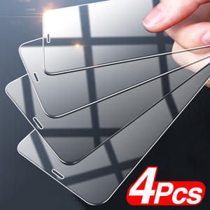 4Pcs Full Cover Tempered Glass For iPhone 12 Pro Max Screen Protector For iPhone 11 Pro