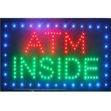 ATM Cash Money Machine Inside LED Bar Open Business Store Gas Station Sign neon