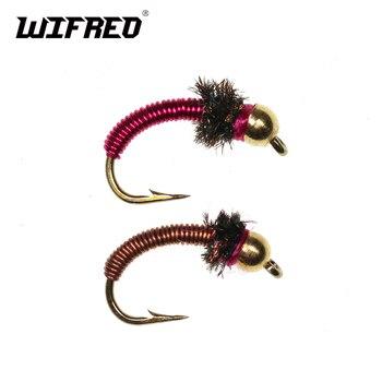 12 Brass Bead Blue Copper John Nymph Wet Fly Trout