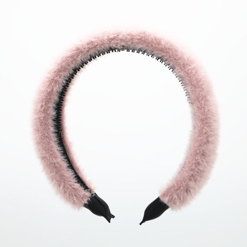 2020 NEW WINTER FUZZY PUFF PLAIN HAIRBANDS