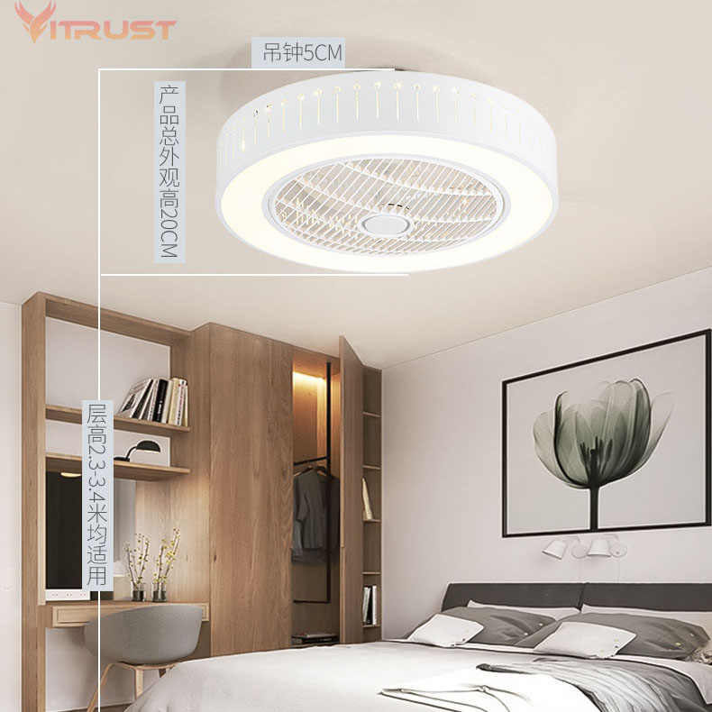 Modern Ceiling Fan Lights Dining Room Bedroom Living Remote Control Fan Lamps Invisible Ceiling Lights Fan Lighting Small Office Ceiling Fans Aliexpress