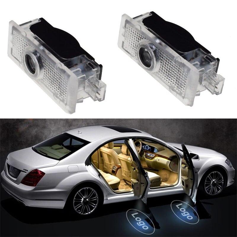 2pièces Voiture Logo Porte Bienvenue Lampe Voiture LED Projecteur Laser Pour Mercedes-benz CLA CLA CLS A207 C207 Voiture  Lampe