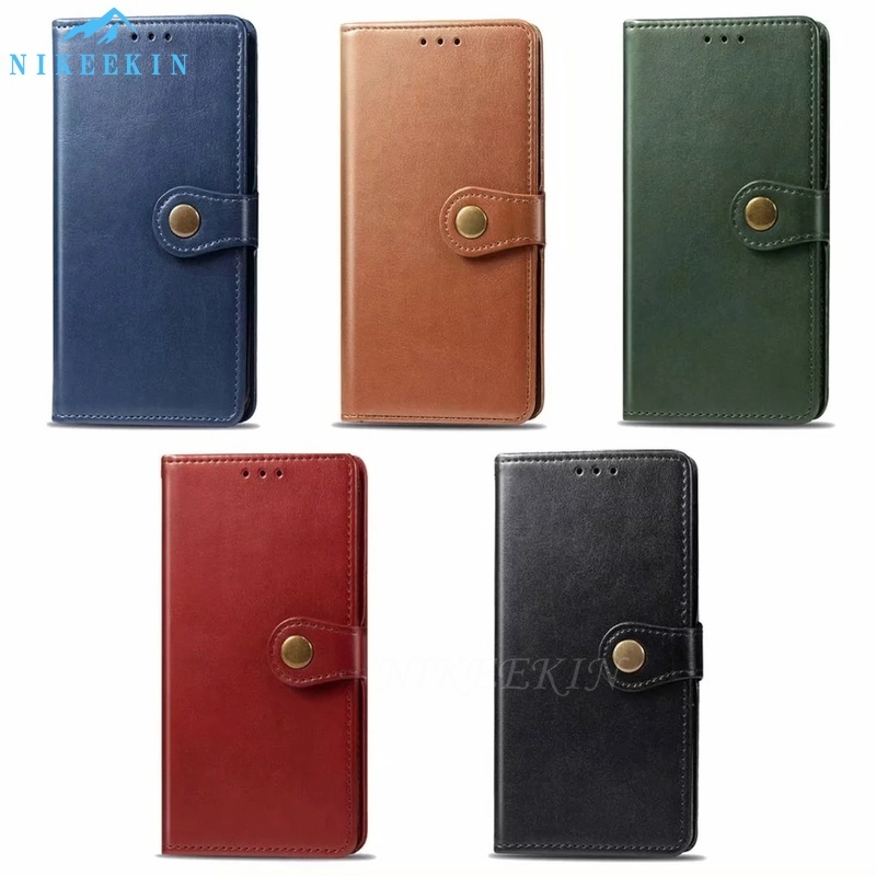 Retro Leather Flip <font><b>Case</b></font> For <font><b>OPPO</b></font> A9 <font><b>A5</b></font> 2020 A11X A7 Find X2 F11 Pro <font><b>Wallet</b></font> Cover For VIVO Realme X50 C3 3 Pro Reno 10X Reno A 5G image