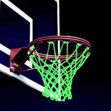 Дети плетеный нейлон светящийся светящийся баскетбол сетка тренировка спорт принадлежности баскетбол сетка