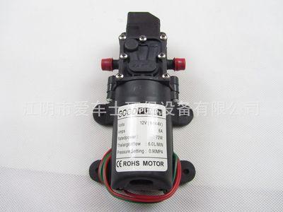 Bomba de agua de alta presión CC, 12V, 130PSI, 6l/Min, bomba autocebante, interruptor automático, 72W