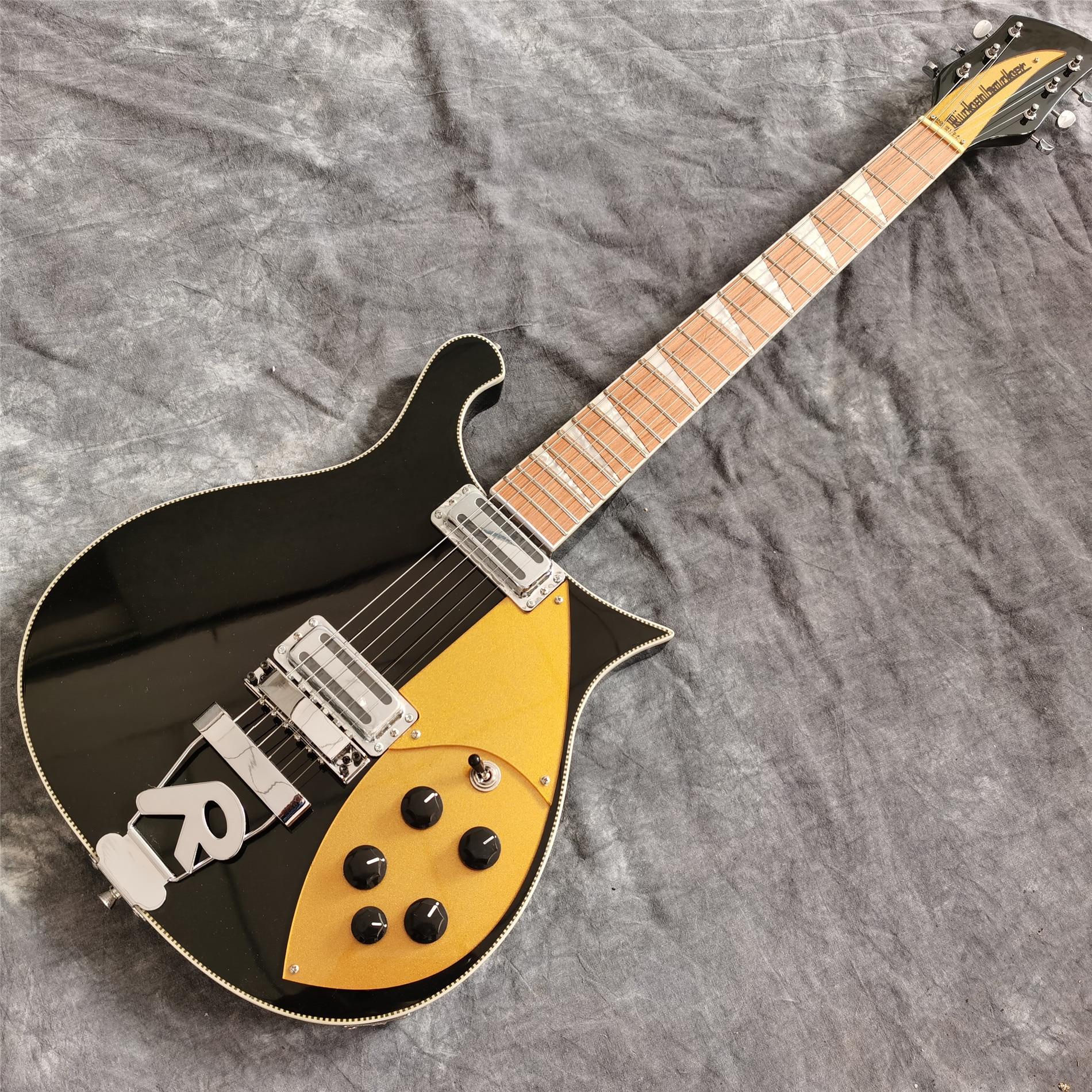 Black and chrome Acoustic Guitar Pickguard