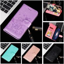 Leather Panda Butterfly Pattern Magnetic Flip Card Wallet Phone Case Cover for Xiaomi Mi 9T 9T Pro Mi A3 Redmi K20 K20 Pro 6A 7A силиконовый бампер silicone cover для mi 9t pro redmi k20 pro мятный