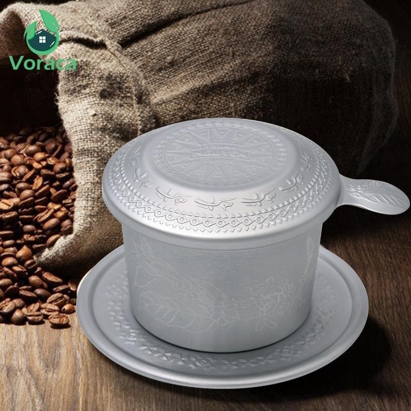 Высококачественный Алюминиевый вьетнамский фильтр-капельница для кофе, портативный резной Рафинированный фильтр для кофе Zhongyuan