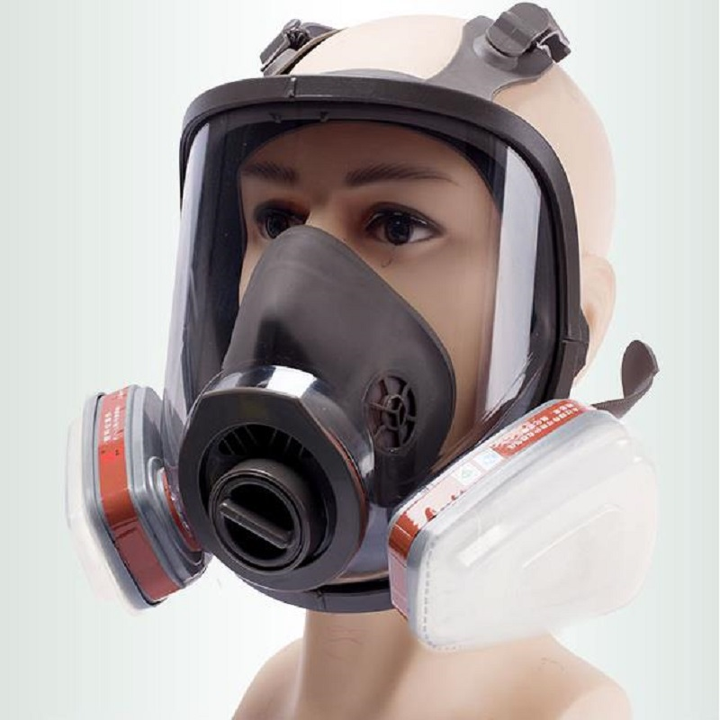 6800 Full Face-piece Gas Mask Respirator Filters 2091 Chemical Industrial Protective Spraying Paint Weld Lab Dust-proof