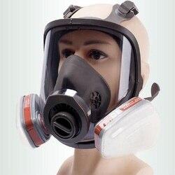 6800 pełna twarz piece maska gazowa filtry respiratora 2091 chemiczne przemysłowe ochronne natryskiwanie farby spawanie Lab pyłoszczelne w Chemiczne respiratory od Bezpieczeństwo i ochrona na