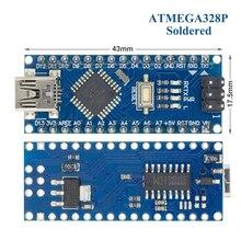 Ücretsiz kargo! 50 adet Nano V3 3.0 denetleyici uyumlu nano CH340 USB sürücü yok kablo NANO V3.0
