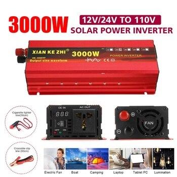 Inverter 12V 220V 1200/2200/3000W Voltage transformer Pure Sine Wave Power Inverter DC12V to AC 220V Converter + 2 LED Display