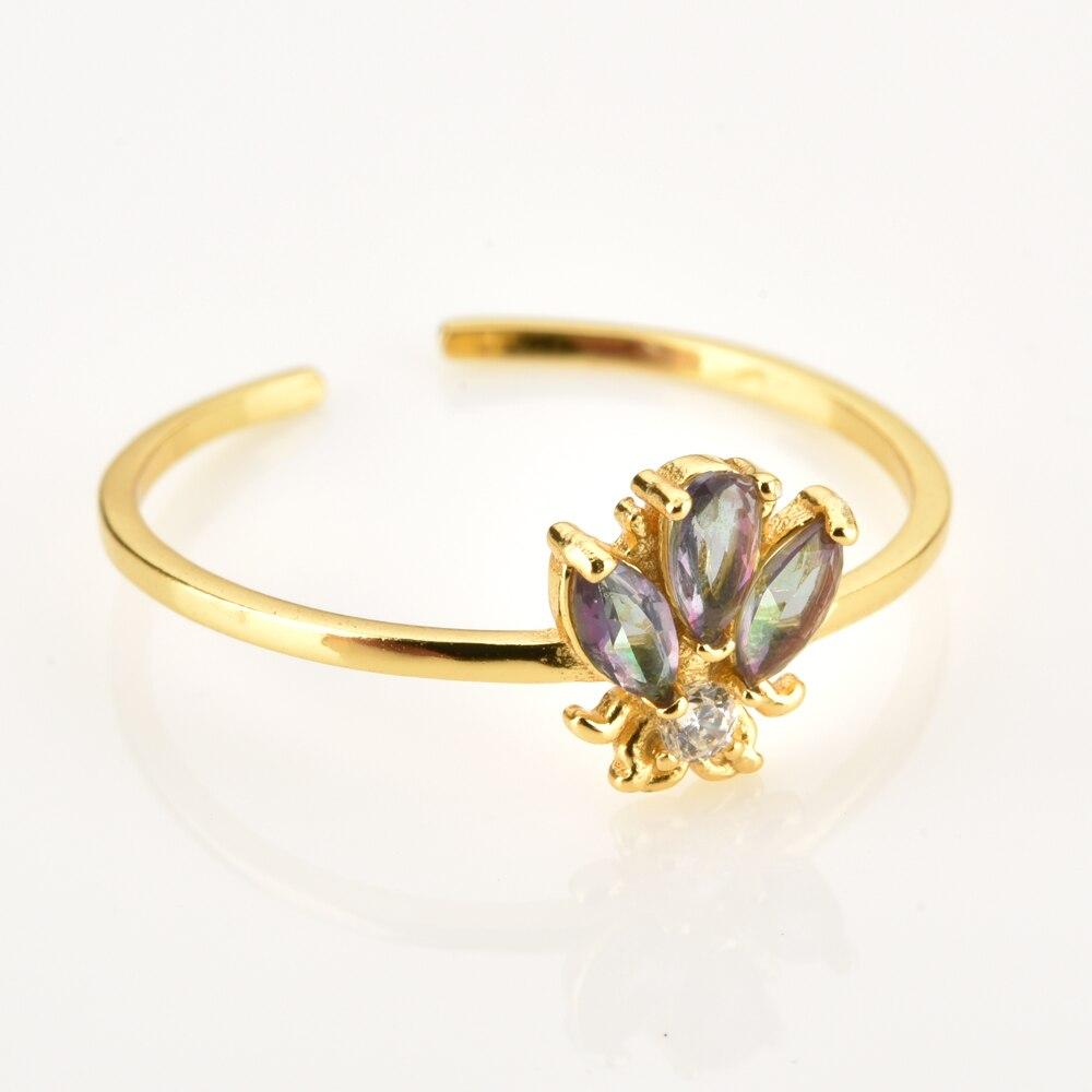 ANDYWEN 925 argent Sterling abeilles anneau réglable femmes mince bagues bijoux lumière animale bijoux pour bijoux de fête de mariage 3