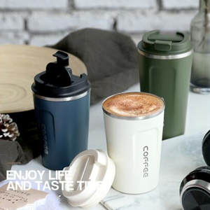 380/510ml Stainless Steel Coffee Thermos Mug Portable Car Vacuum Flasks Travel Mug Insulated Thermal Water Bottle With Lid
