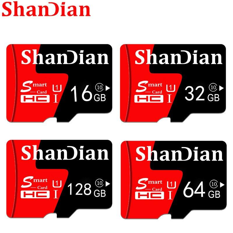 ShanDian Smart SD Memory Card Real Capacity 4GB 8GB 16GB 32GB TF Memory Card Flash Drive Memory Stick Free Shiping