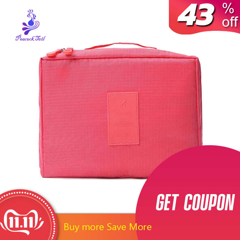 Cosmetic bag for eyelash extension Travel Outdoor Girl quick Makeup Bag lady Organizer Waterproof Nylon beautician