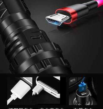 LED Flashlight XHP50.2 Most Powerful Xlamp Hunting L2 Waterproof 5 switch Modes Torch Light Lanterna use 18650 26650 Battery 4