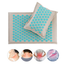 Massage Mat and Pillow Relieve Back, Neck and Sciatic Pain, Relax Muscles