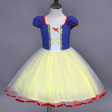 Schneewittchen Snow White Girls Dress Children Summer Cartoon Party Show Tutu Princess Kids Dresses For Girls Halloween Costume 2017 summer dresses for girls moana tutu princess girls dress children party cosplay chiffon kids clothes cartoon child costume