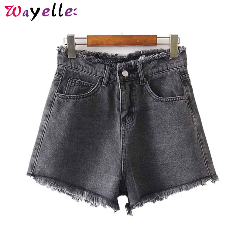 Черные синие джинсовые женские шорты Классические Стильные шорты с карманами на молнии женские джинсовые шорты в уличном стиле шорты с