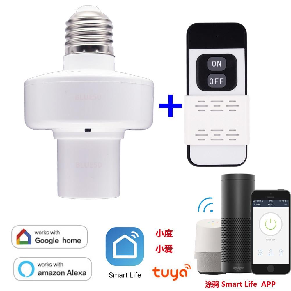 WiFi Smart Lamp Head Tuya Graffiti SmartLife Smart Life Lamp Head With RF Feature + Remote Control A Set