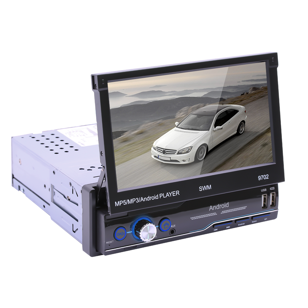 7 Inches Universal 1 Din Car Radio Receiver GPS Navigation 1G+16G Rotatable Screen Multimedia Player Android Car Stereo