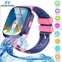 Smart Watch kids 4G Android 1.3inch RAM528+ 680mAH Battery HD watch video call Wifi GPS water resistant Smartwatch