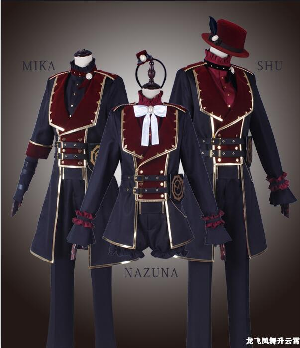 Hot Anime Ensemble Stars! Itsuki Shuu/MIKA/Sakasaki Natsume Cosplay Costume Valkyrie Theatre Uniform Suit For Unisex Custom-Make