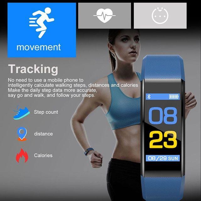 Shaolin rastreador de fitness pressão arterial à prova dwaterproof água banda de pulso pulseira banda inteligente relógio pulseira 4