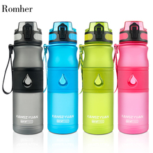 Romher Water Bottle Plastic Sport Bpa Free 530ML With Tea Infuser Gourde Direct Drinking Shaker Climbing For