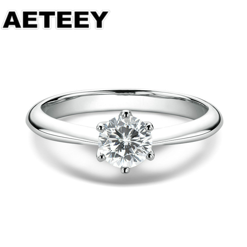 925 Sterling Silver Ring 1ct 2ct 3ct Classic Diamond Jewelry Moissanite Ring Wedding Party Anniversary Ring For Women JA-01 1
