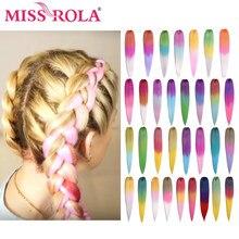 Miss Rola Kanekalon – tresses synthétiques Jumbo Yaki lisses blondes, Extension capillaire torsadée, 22 pouces, 60G, vente en gros