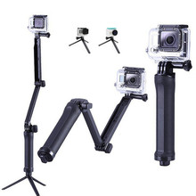 Portable 3 Way Grip Waterproof Monopod Selfie Stick Folding Tripod Stand for GoPro Hero