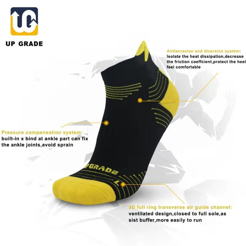 UP GRADE Man EU40-45 Outdoor Sport Sock Running Socks Athletic Training Compression Socks Cycling Basketball Calcetines Ciclismo