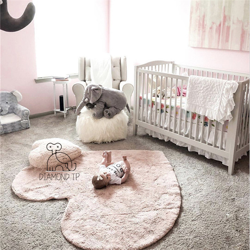 Heart-Shaped Cotton Girls Bedroom Rugs 120cm Baby Crawling Mat Children's Play Mat Nordic Home Decor Studio Photography Props