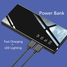 Power Bank  Waterproof Portable 10000 MAh for All Smart Phone Battery Powerbank Fast Charging External Battery LED Double USB