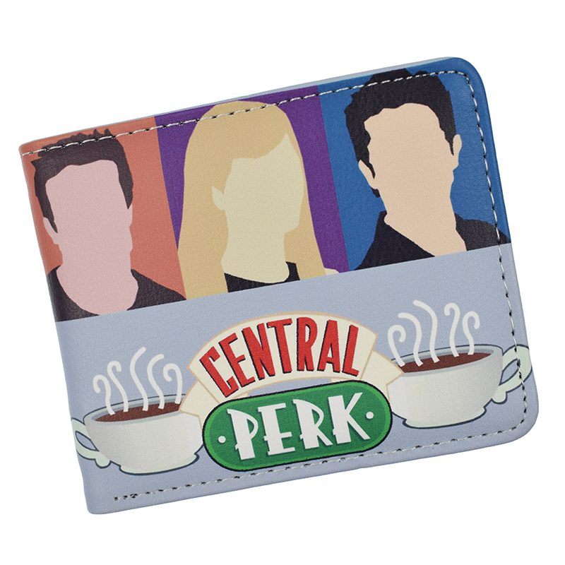American TV Show Friends Wallet Central Perk Coffee Time Wallets With Coin Pocket