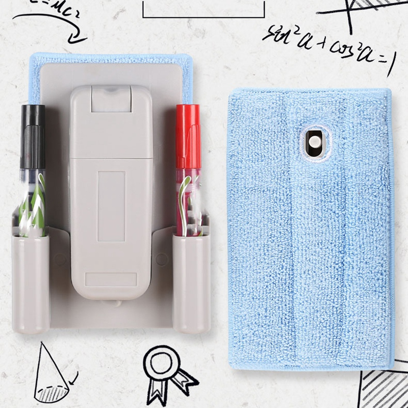 1PC Magnetic Flannel Whiteboard Eraser Plastic Marker White Board Cleaner Eraser Blackboard Wipe Office School Stationery Supply